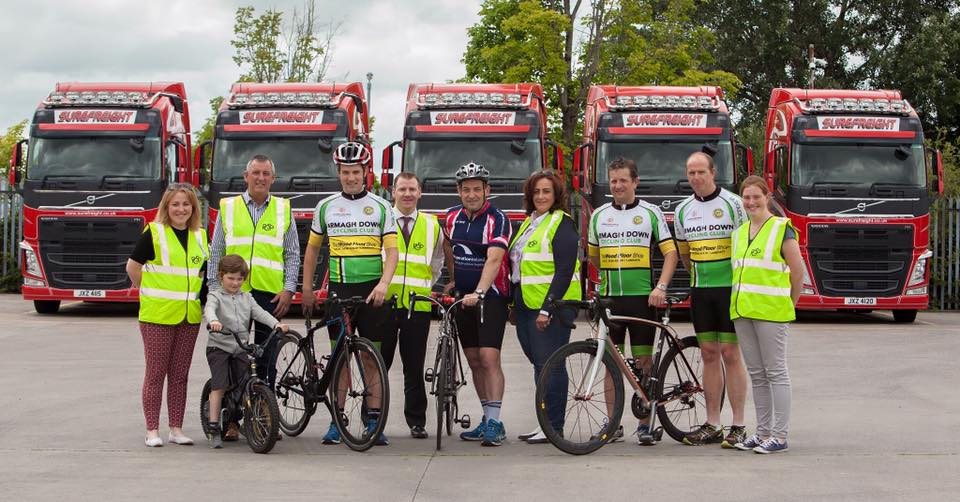 Newry Truckers Get on their Bikes for Road Safety
