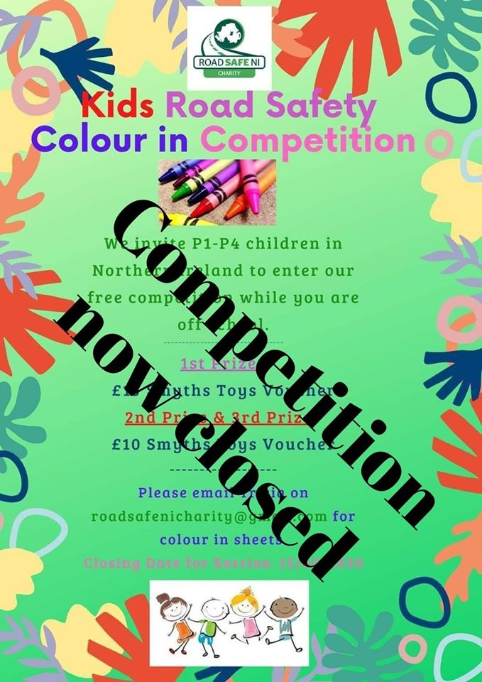 Road Safe NI Colouring competition